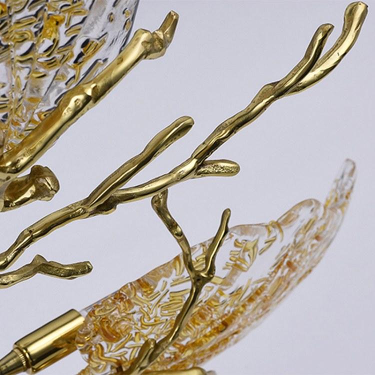 全铜树枝吊灯轻奢水晶后现代家用客厅灯饰餐厅气泡玻璃艺术灯具