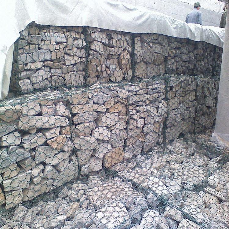 石森 包塑石笼网 铅丝石笼网 高尔凡格宾网 专业生产 铅丝石笼网