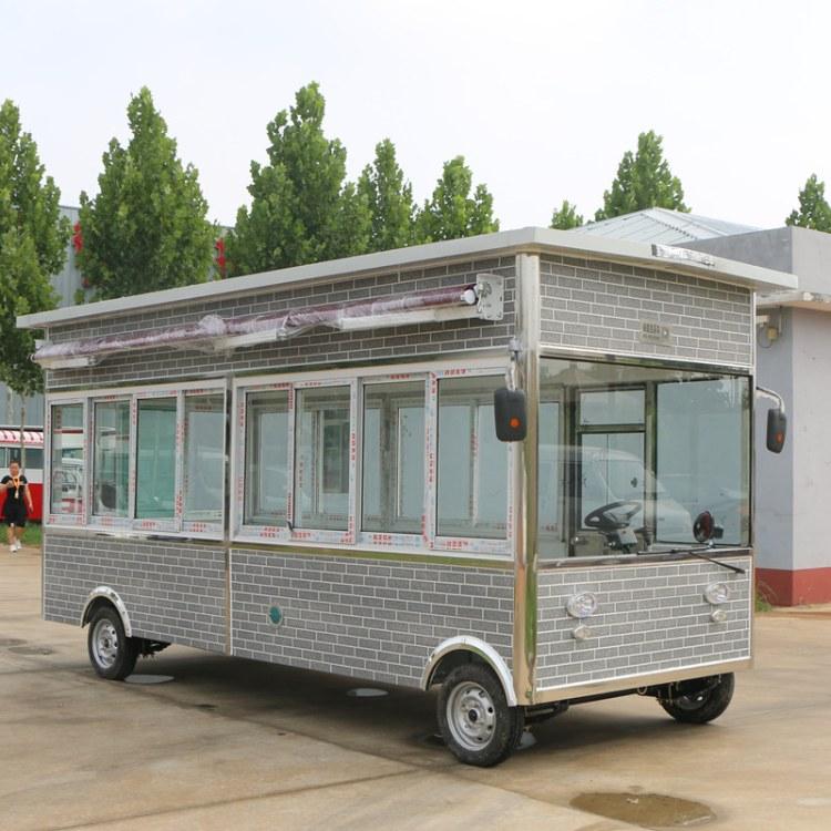 电动四轮仿古木屋车 流动餐车外卖小吃美食车 定制批发多功能餐车 大型保温车