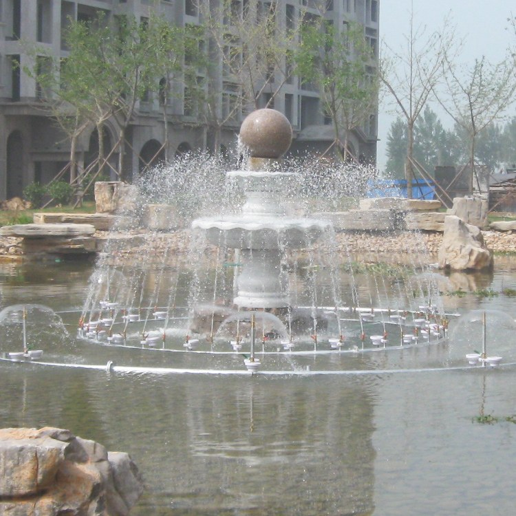 丰景园林 雕塑喷泉 专业喷泉设计施工厂家 风水球 旱喷 假山喷水