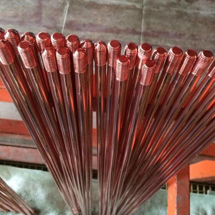 拓达现货供应 铜包钢接地极 铜覆钢接地极 地极棒 螺纹接地棒 连铸铜覆钢接地极