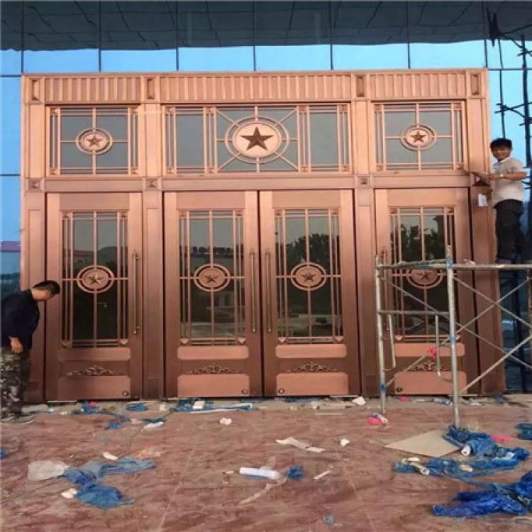 地弹簧玻璃门 平开玻璃门厂家 沧盛加工厂家