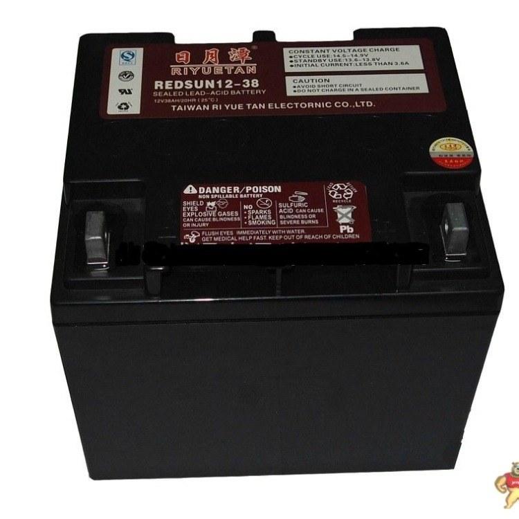 日月潭12V100AH ups电源电池EPS直流屏太阳能光伏消防备用蓄电池 质保三年