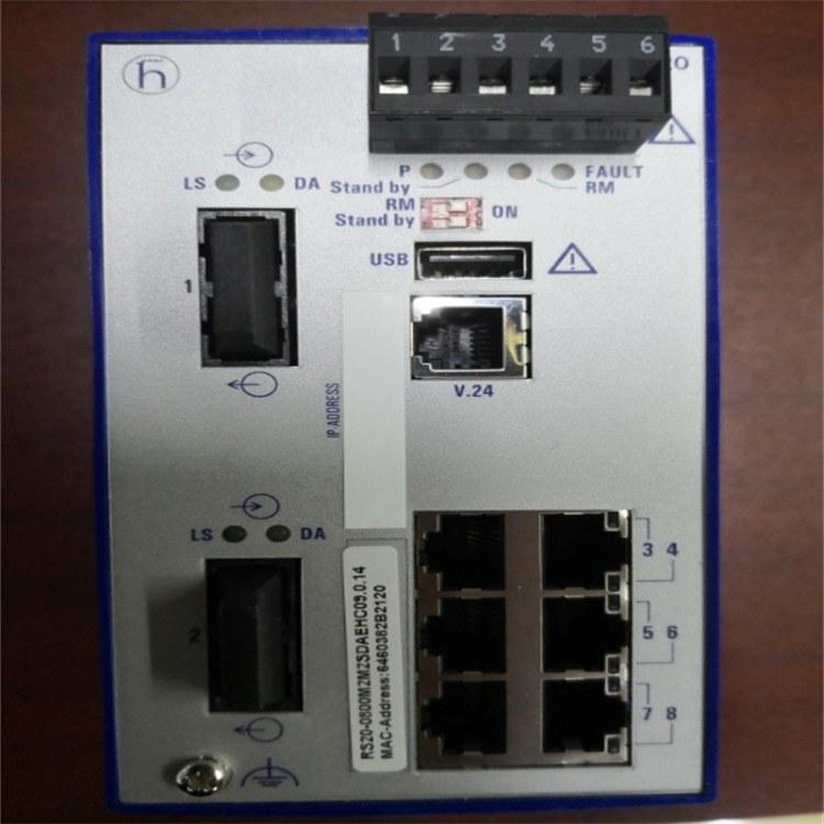 赫斯曼交换机RS20-0800M2M2SDAEHC 赫思曼 RS20导轨交换机 现货