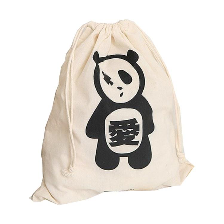 厂家定制帆布束口袋环保抽绳束口印花全棉棉布束口袋抽拉绳 拓普包装