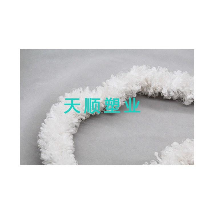 天顺塑业 厂家生产 螺旋式绳型生物填料 人工仿水水草 定制辫带式 行业标准