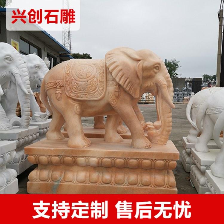 兴创动物雕塑石雕大象   欧式大象 精美图像石雕雕像