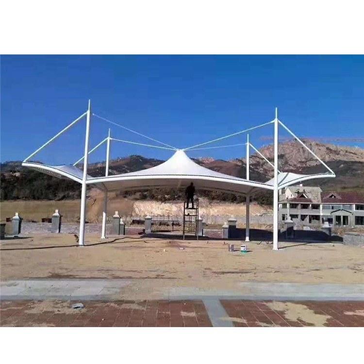 鑫绿荫 停车棚膜结构工程 建筑膜结构停车棚 厂家定制