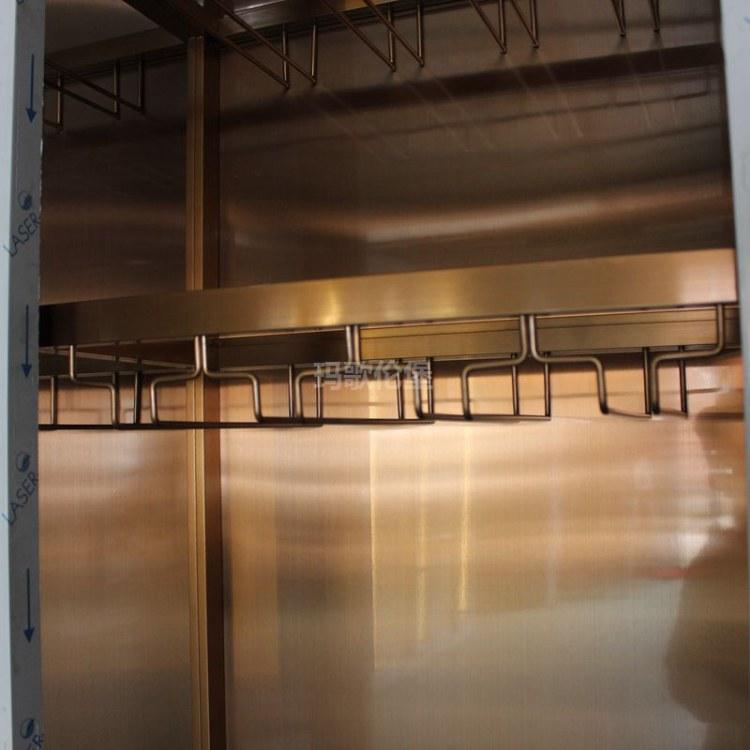 不锈钢时尚酒柜-不锈钢酒柜-餐厅酒柜-酒柜定制生产-玛歌伦堡