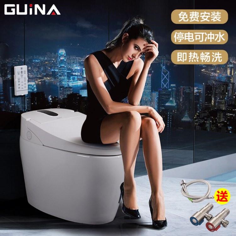 智能马桶价格 连体式 一体式坐便器 酒店家用座便器 自动加热除臭 贵畅贸易
