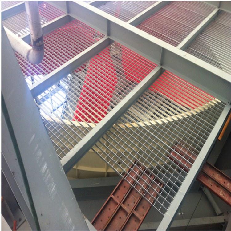 安平钢格栅厂家 楼梯踏步板 插接异形钢格板 热镀锌平台格栅板