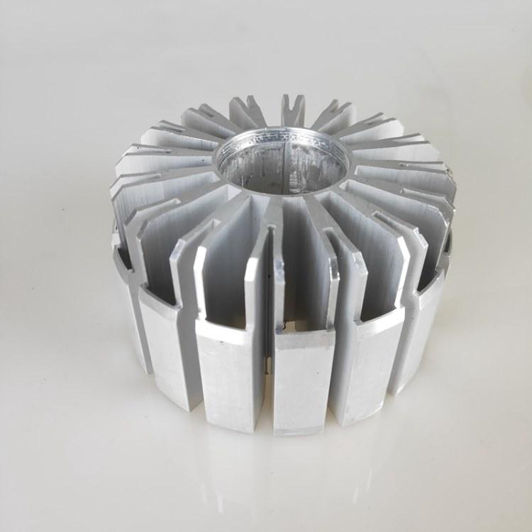 佛山电子太阳花散热器 LED电子灯具散热器铝型材定制 工业材料cnc加工开模