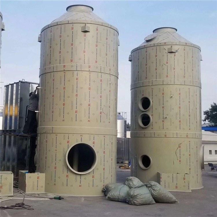 厂家定制砖厂玻璃钢脱硫塔 电厂脱 硫除尘器 废气脱硫塔 窑炉石灰除尘器锐驰朗制造