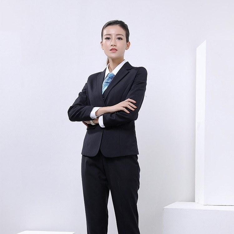 新款秋冬职业西装女款 正装修身商务职业装 西服定制小西装工作服