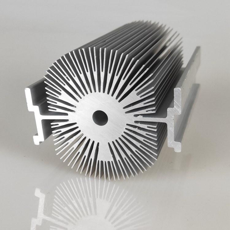佛山LED灯具散热器铝型材 电子散热器铝合金型材来样加工