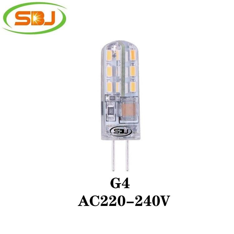 G4 led玉米灯灯 3014 24珠 1.5W 110lm 220V 硅胶 高流明,工厂直销