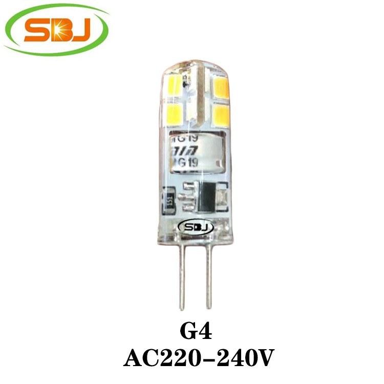G4 led迷你玉米灯 2835 16珠 2W 180lm  硅胶 高流明,工厂直销