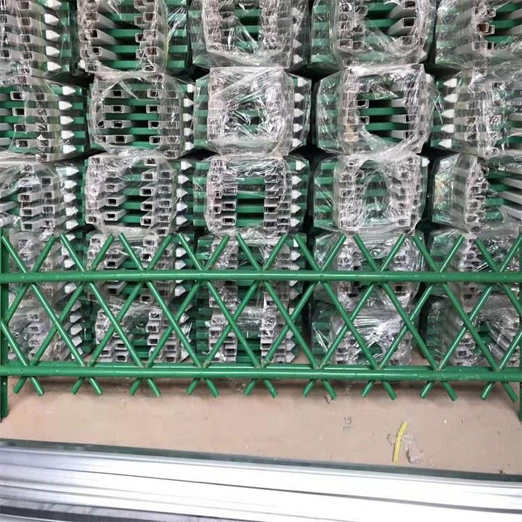 广州世腾 工厂直销订做 不锈钢仿竹生态篱笆围栏