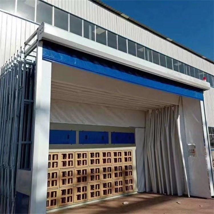 厂家定制封闭半封闭大型喷漆环保设备移动伸缩房