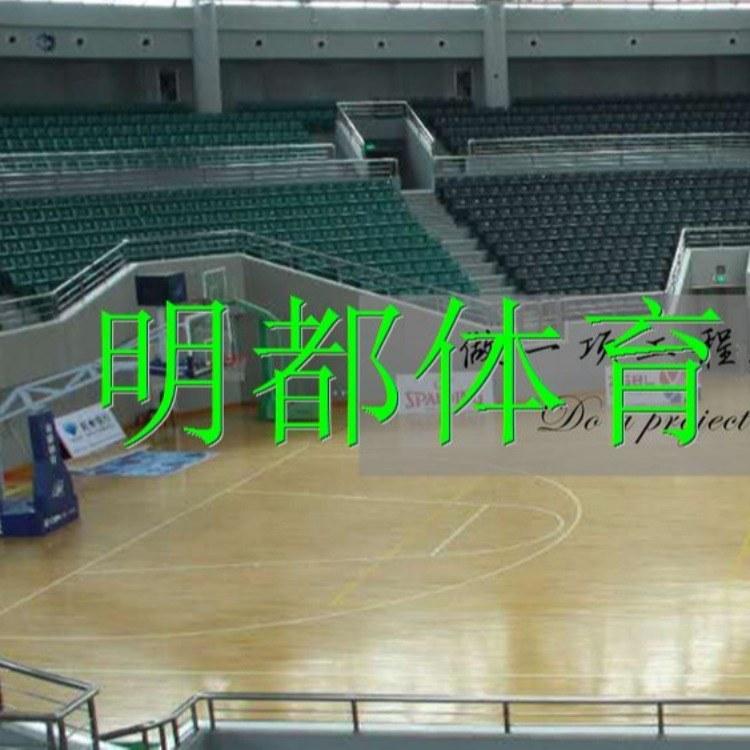 专业设计篮球馆木地板 免费拿样健身房运动木地板 专业定制学校舞台山东曲阜