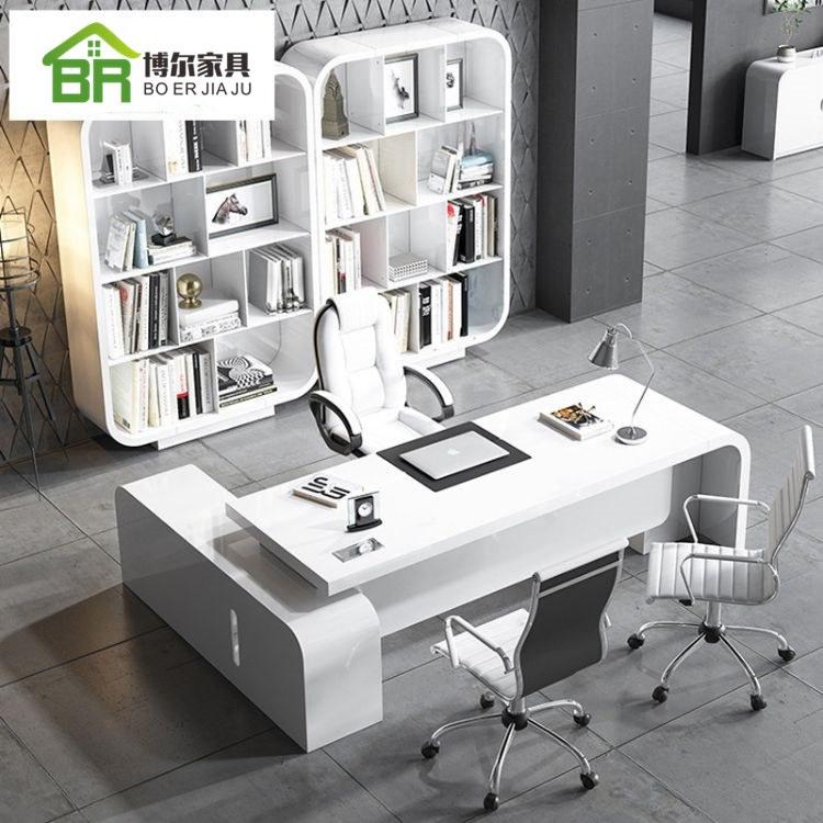 烤漆老板桌 办公桌椅 大班台 单人经理桌 主管总裁桌椅组合 厂家直销