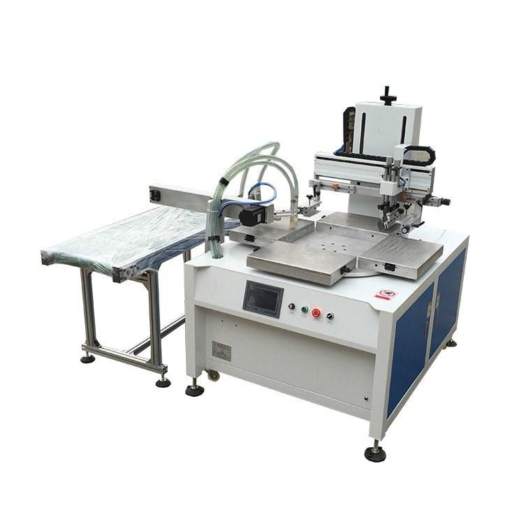 骏晖平面丝印机四工位转盘自动卸料丝印机厂家3045转盘丝网印刷机价格