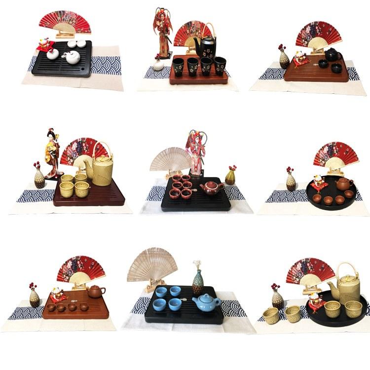 GREEDYGOOD电木茶盘中国风日式北欧风茶道摆件摆台家居装饰 胶木茶盘 工艺品礼品摆件