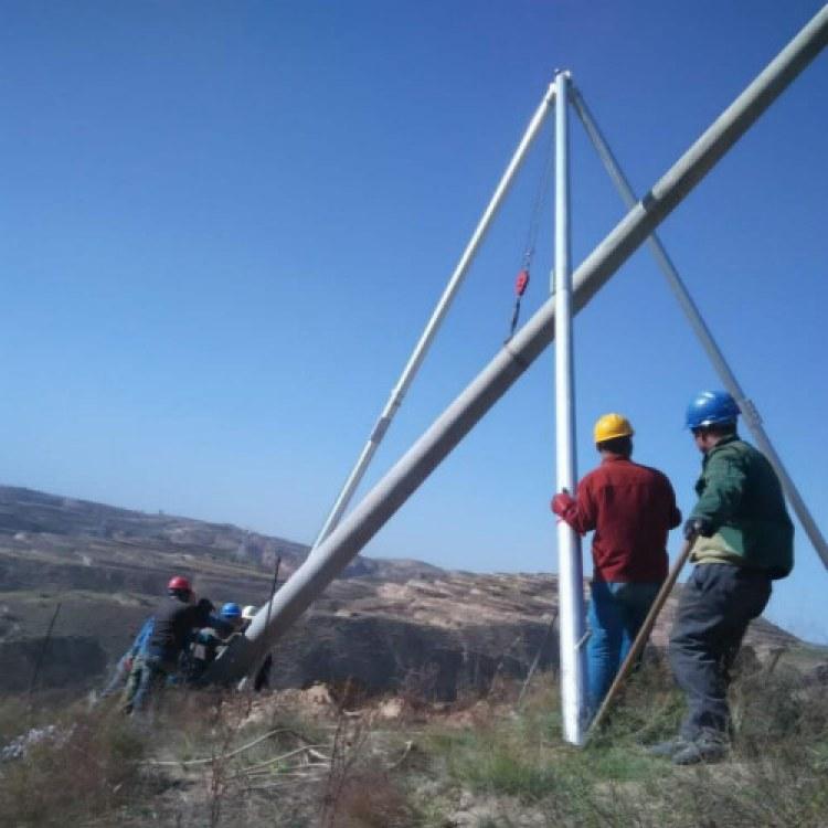 10米12米15米铝合金三脚立杆机水泥杆立杆器三角扒杆