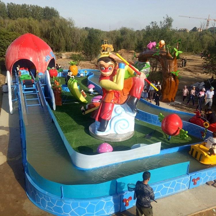 花果山漂流 亲子玩水游乐设备 游乐场坐船的项目