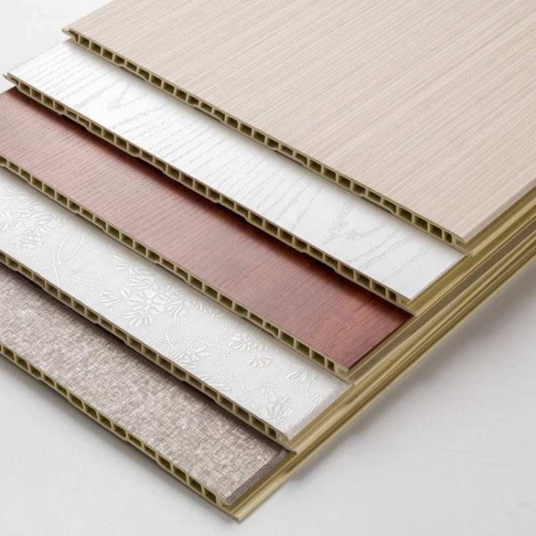 厂家直销竹木纤维墙板400无缝v缝全屋快装集成墙板生态木装饰板