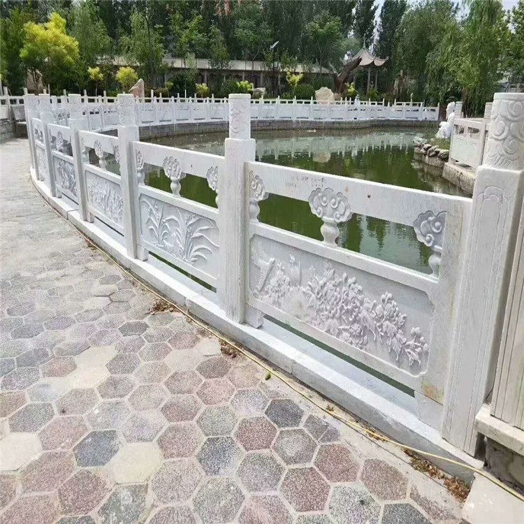厂家定制石栏杆石拱桥 护栏汉白玉石雕栏板花岗岩园林户外围栏雕刻