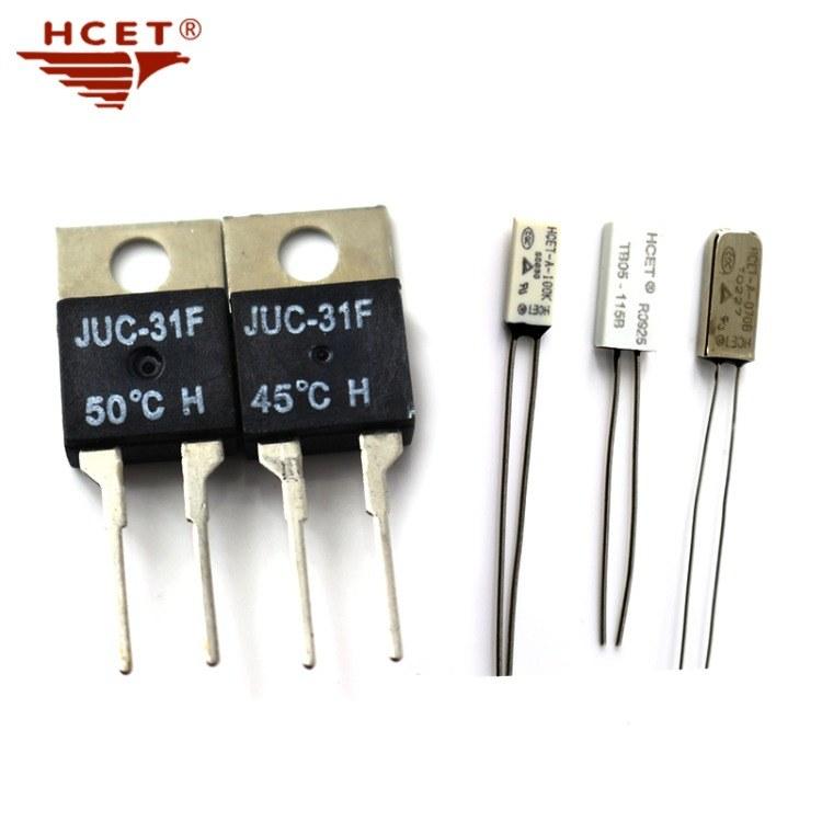 海川·HCET小体积热保护器 KSD-01F/JUC-01F温控开关T022封装  线路板温控开关