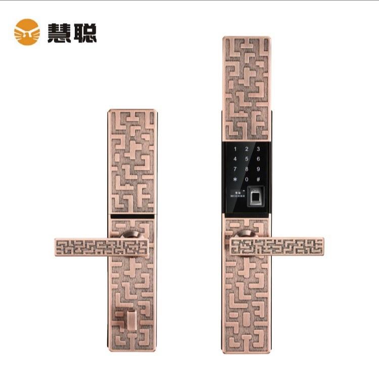 HC-909中国风智能指纹锁 慧聪智能指纹锁