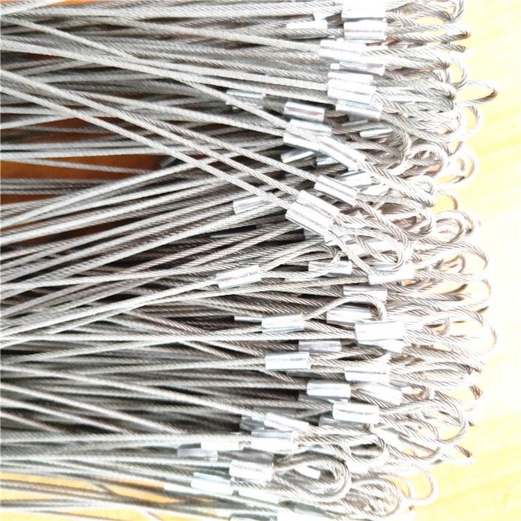 厂家直批细钢丝绳 正宗304不锈钢 镀锌钢丝 钥匙扣 饰品挂件