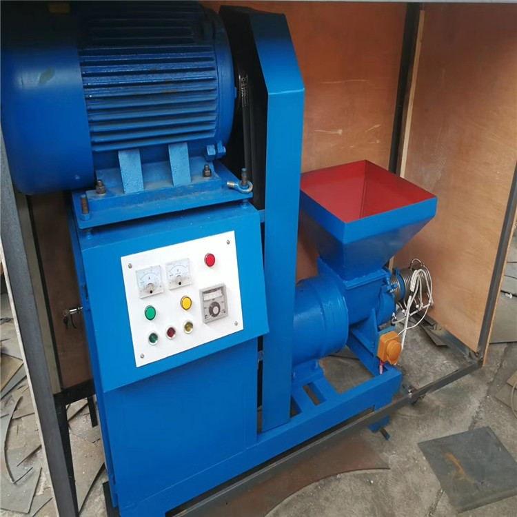 秸杆稻壳制炭机 烧烤木炭成型机 活性木炭制棒机生产线