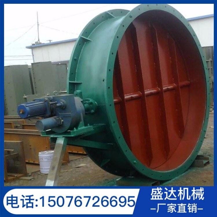 盛达定制电动圆形通风蝶阀 DN400规格调风阀 除尘管道配件挡风阀