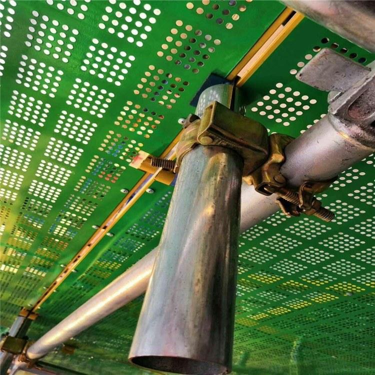实体厂家生产建筑爬架网 高层防护网 外爬架 金属安全爬架网片厂家直销提升架、米字框冲孔爬架网