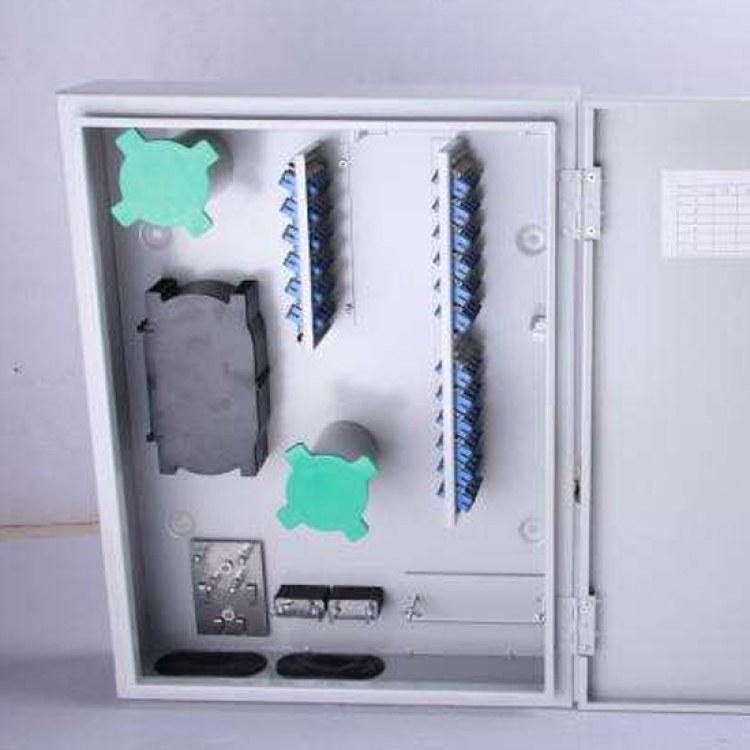 成都【欣荣泰实业】厂家直销壁挂式楼道48芯光纤分纤箱 价格实惠