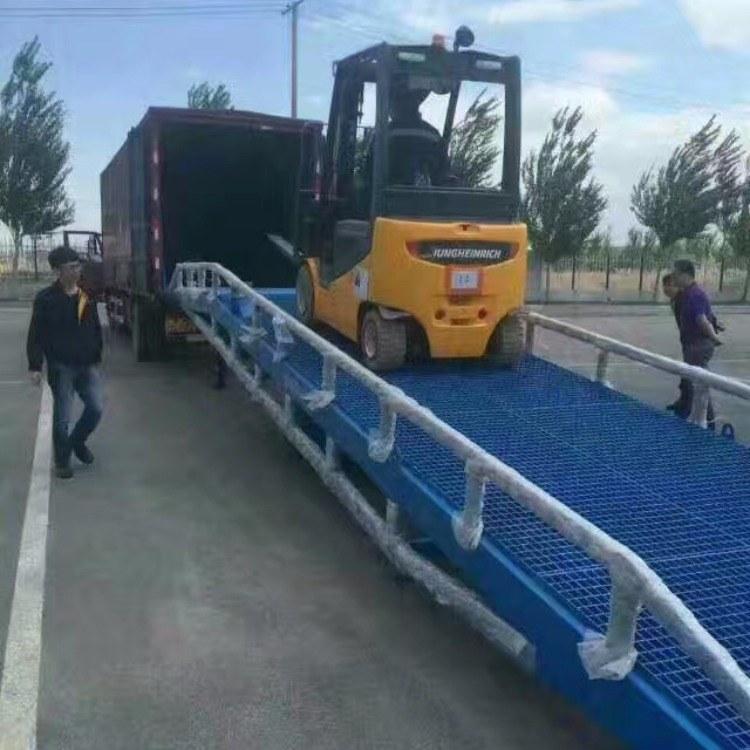 登车桥-移动登车桥6-15吨型号齐全济南新派厂家批发供应
