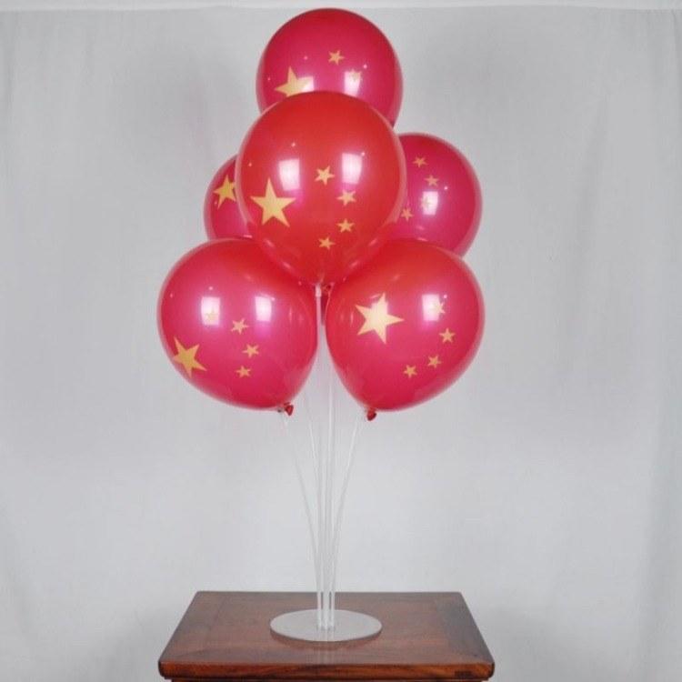 十一国庆节国旗气球五角星红旗气球店铺开业活动装饰场景布置用品