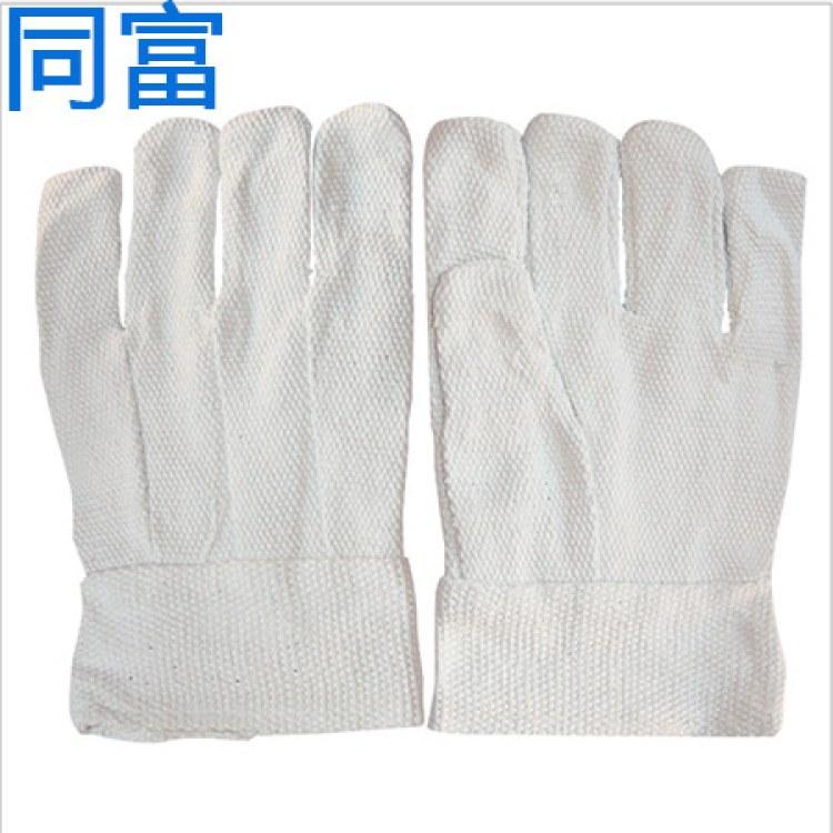 厂家直销石手套棉隔热防火防烫长31cm45cm38cm耐高温隔热二指五指劳保手套