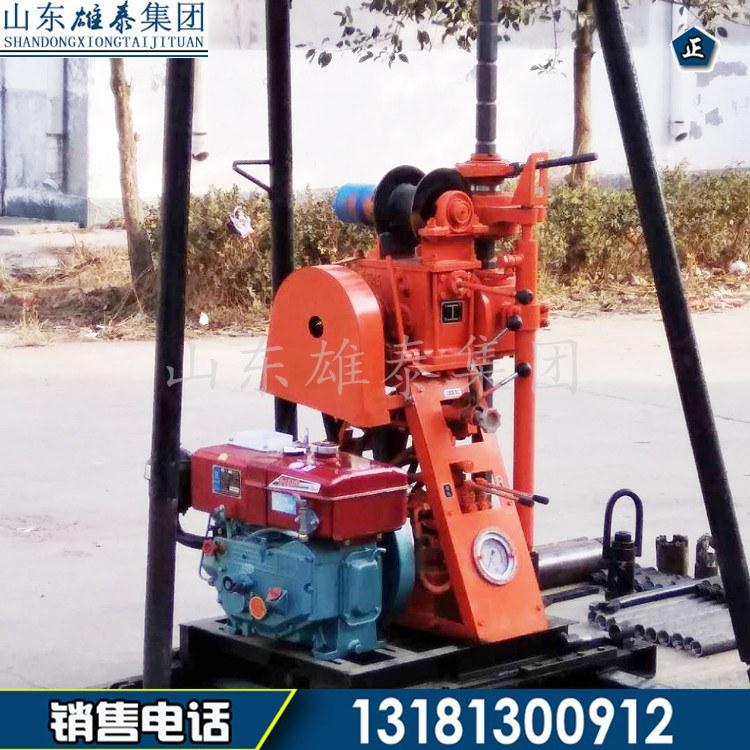 地质勘测钻井机 小型地质钻探设备 移机式农用钻井机提钻方便