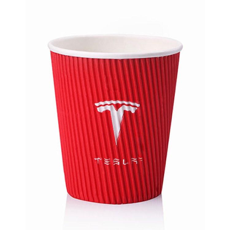 咖啡奶茶杯 加厚一次性纸杯 隔热 防烫杯定制logo 深圳直销8盎司瓦楞杯