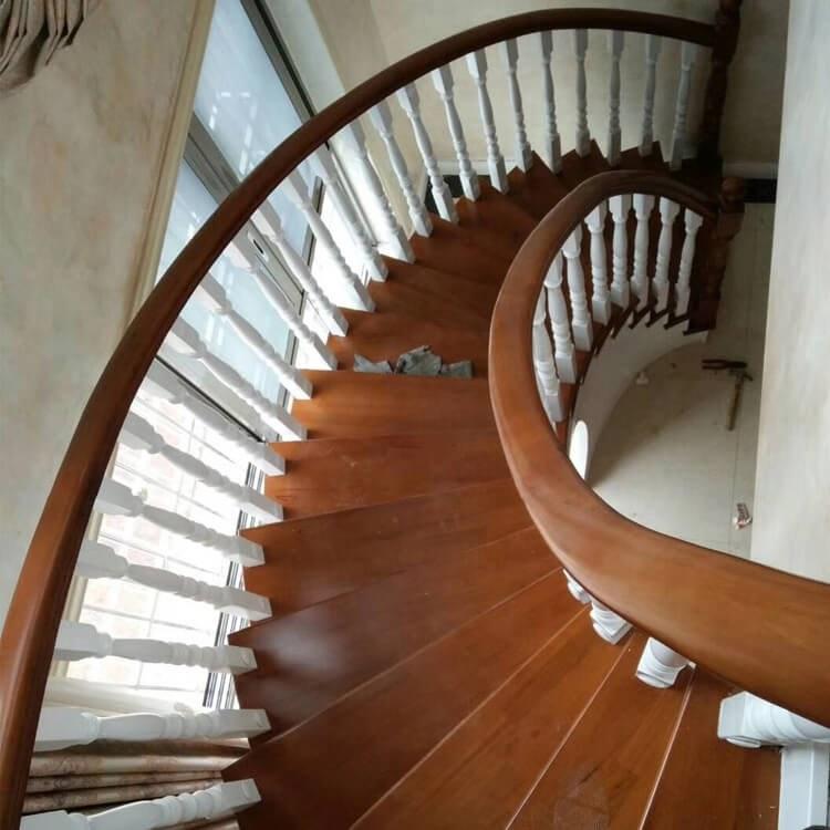 【颜氏木业】厂家直销实木楼梯 室内旋转楼梯柱 实木楼梯定制批发 现货供应