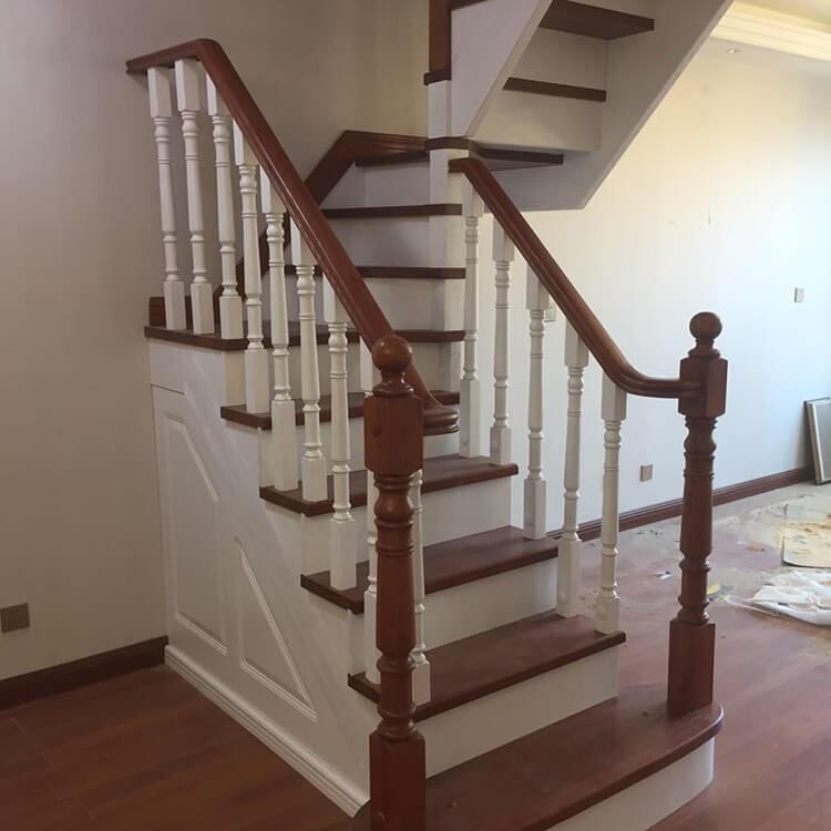 阁楼复式别墅 颜氏木业 现代简约风实木楼梯 室内实木梯 楼梯定制