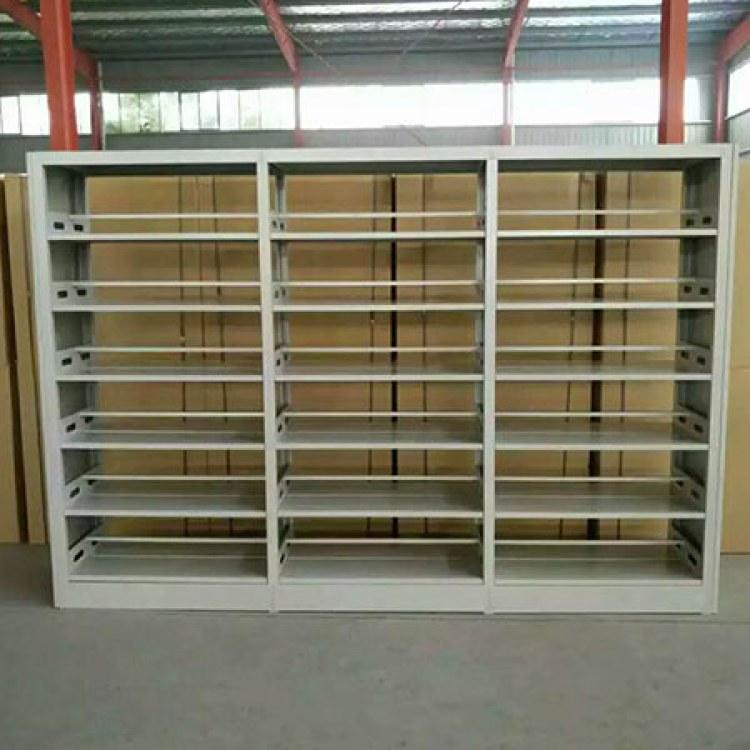 安徽巢湖钢制书架学校图书馆书架生产厂家多功能 价格优惠 质量保证