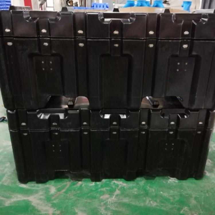 导弹专用包装箱PE材质部队长条导弹运输箱加工定制滚塑箱