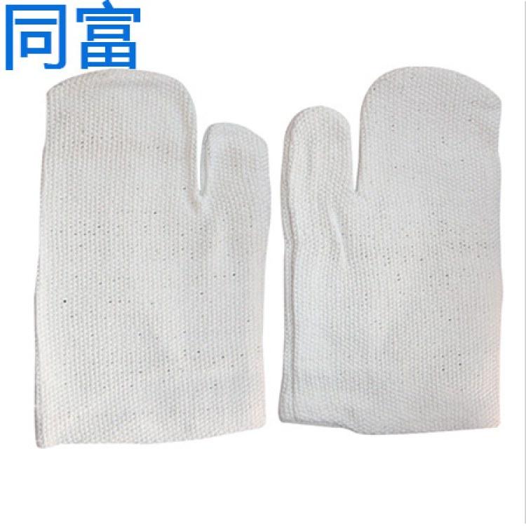 厂家直销石棉手套耐高温五指二指石棉手套31CM防火耐防烫阻热钢厂劳保手套