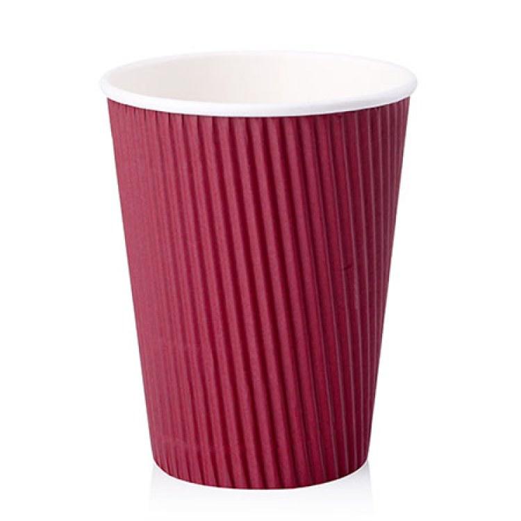 12盎司 420ML一次性纸杯 豆浆杯 咖啡纸杯 奶茶纸杯 环保纸杯 瓦楞杯