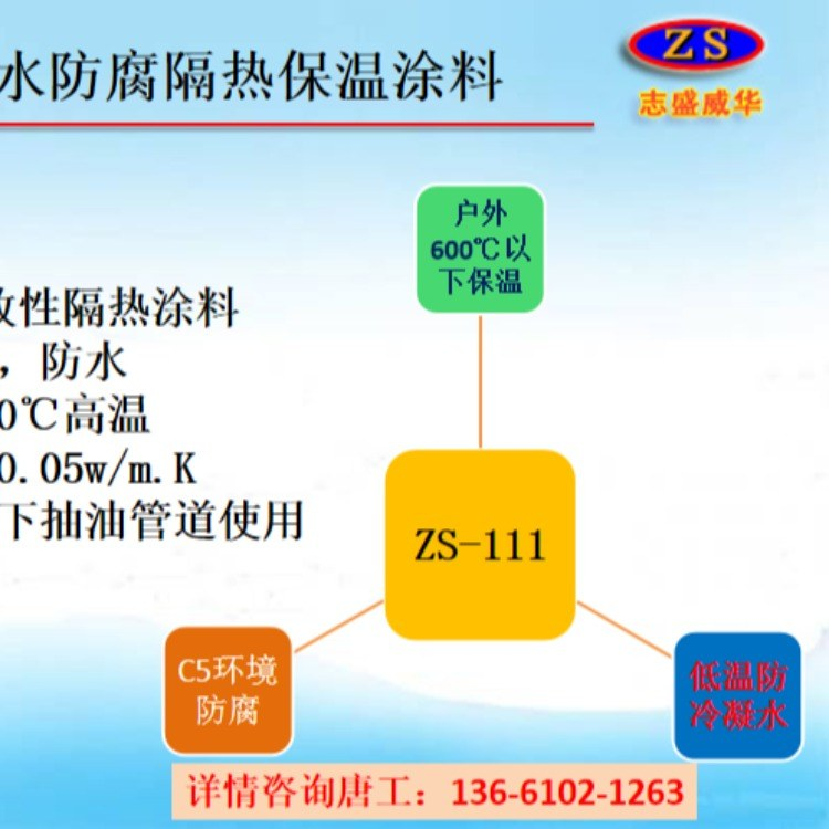 热力管道 蒸汽管道隔热保温 志盛ZS-111防水防腐隔热保温涂料